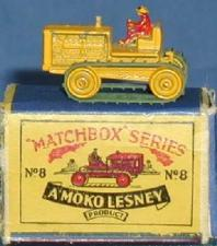Matchbox Lesney 18 d Caterpillar Bulldozer empty Repro E style Box
