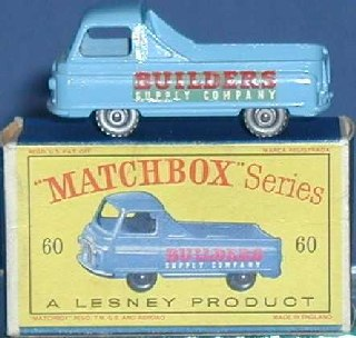 Picture Gallery for Matchbox 60a Morris J2 PickUp Builders Supply Co