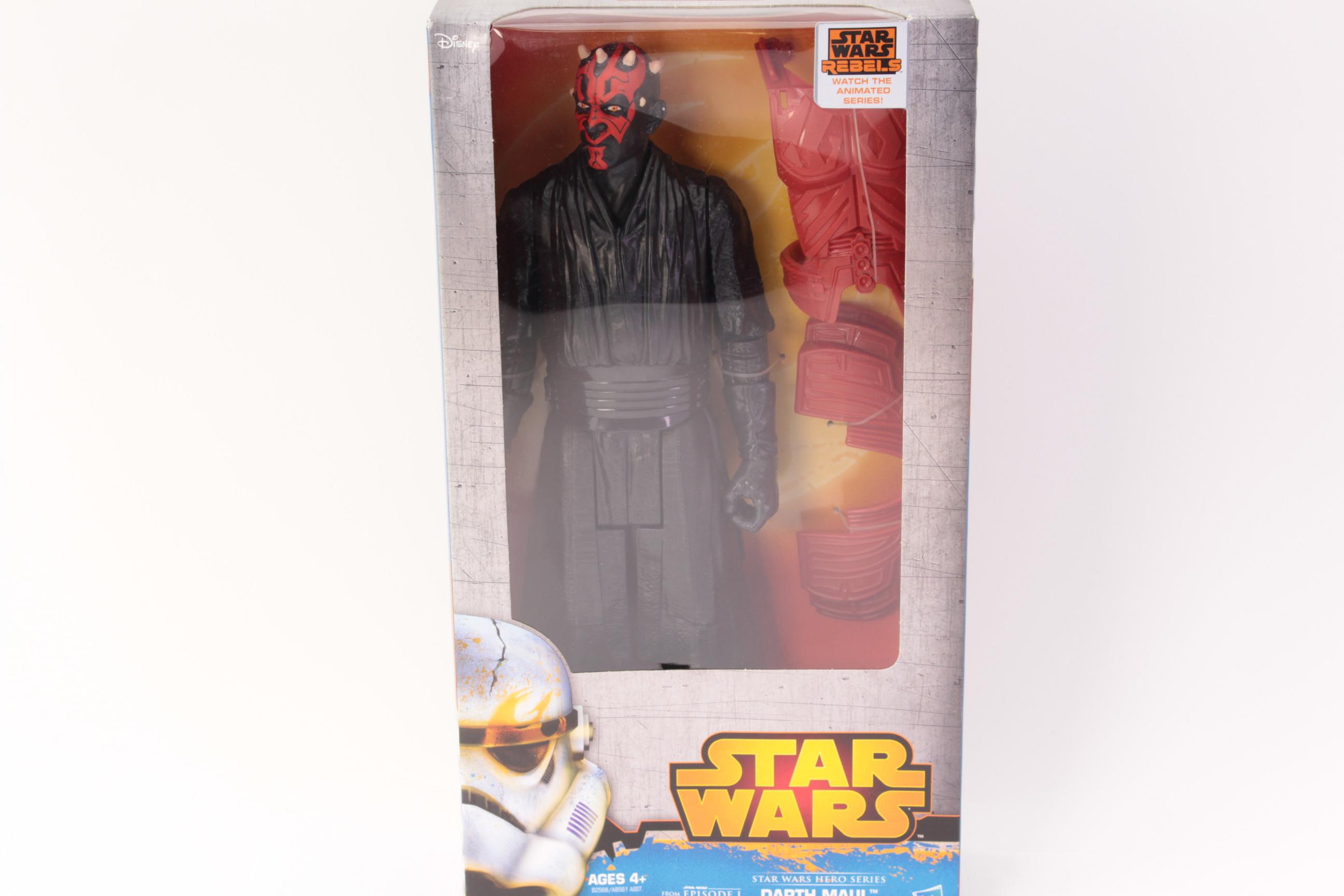 Star Wars 1999 EPIC FORCE Lot of 2 DARTH MAUL /& OBI-WAN KENOBI ~ NEW