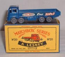 Picture Gallery for Matchbox 20b E.R.F Truck 68G