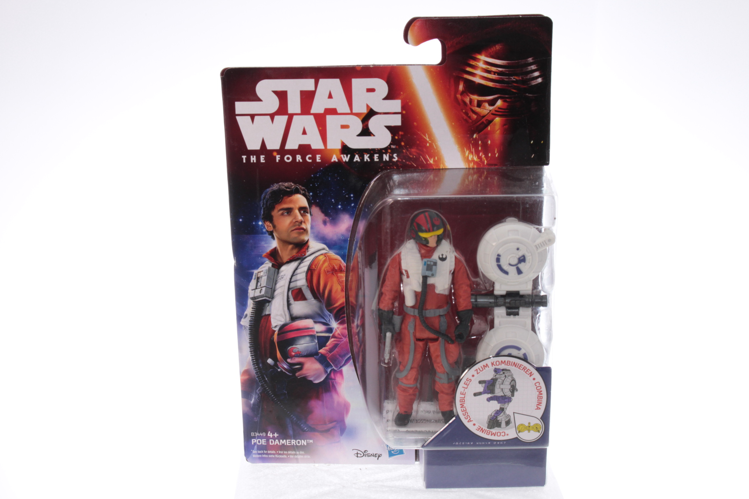 Star Wars The Last Jedi Poe Dameron Resistance Pilot 3.75 inch MISB