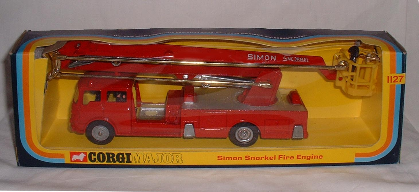 Picture Gallery for Corgi 1127 Simon Snorkel Fire Engine