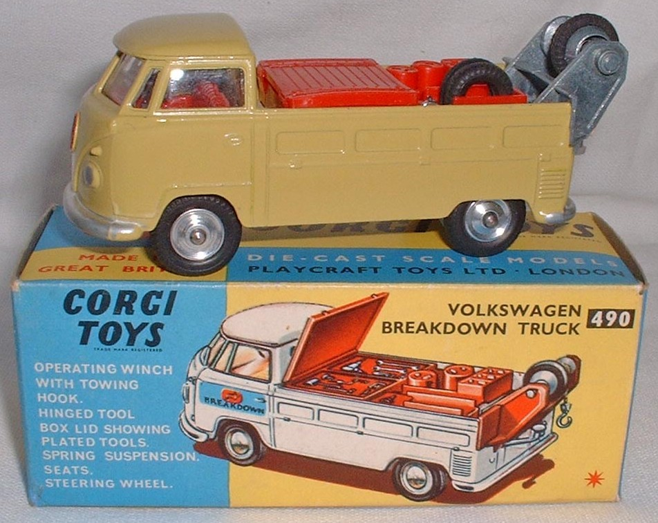 Picture Gallery for Corgi 490 VW Breakdown truck