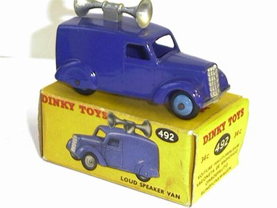 Picture Gallery for Dinky 492 Loudspeaker Van