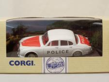 Corgi #96685 - Jaguar MKII (Police) - White/Red