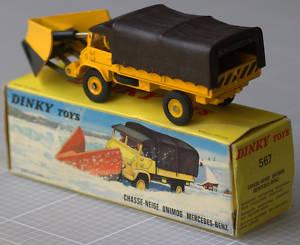 Snowplow unimog mercedes-Benz ref 567 at 1//50 dinky toys atlas