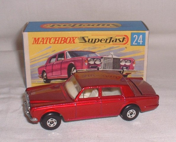 Matchbox Lesney Superfast 24 d Rolls Royce Silver Shadow Empty Repro G Style Box