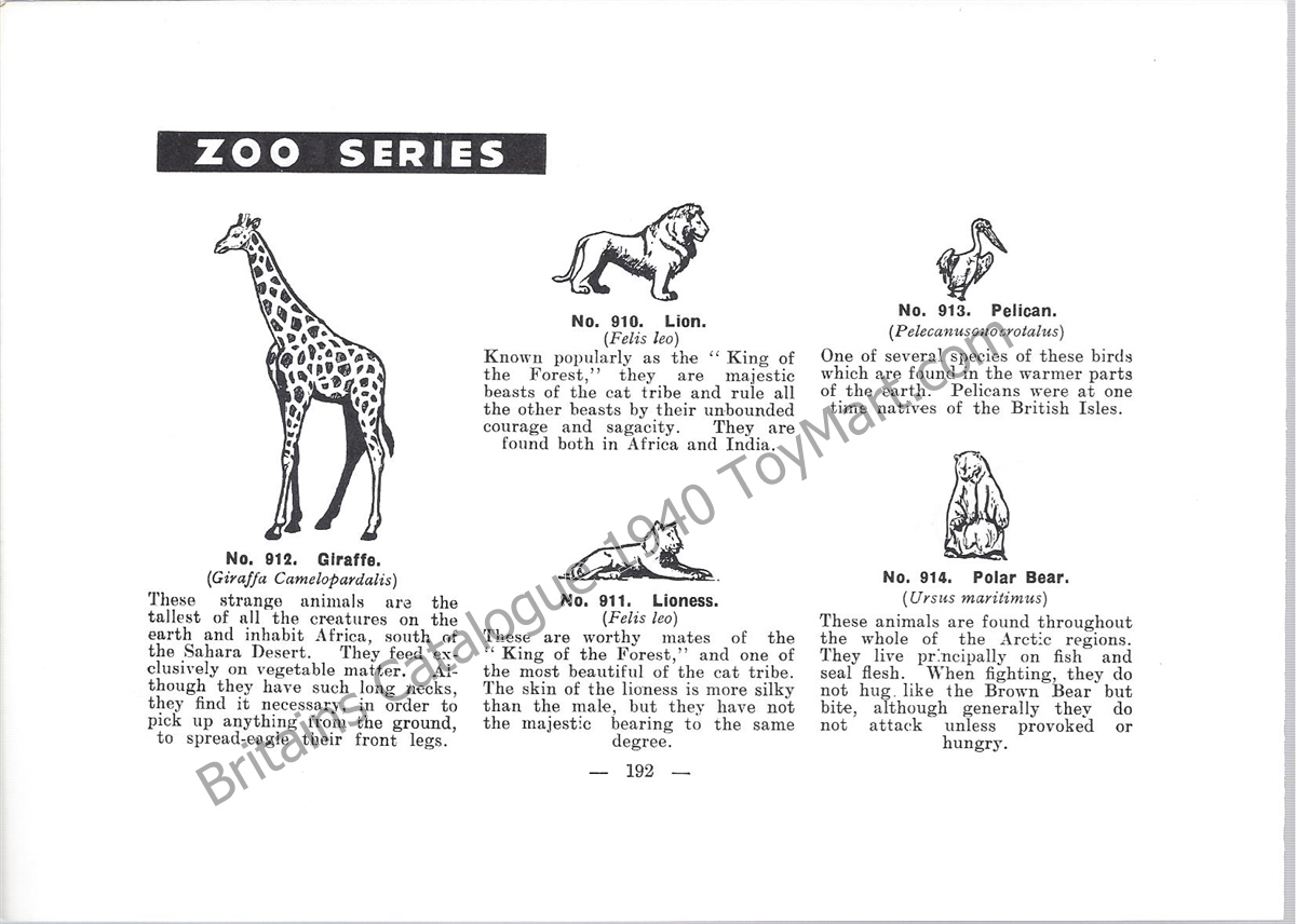 BRITAINS ZOO COLLECTION BIRDS MULTI-LISTING