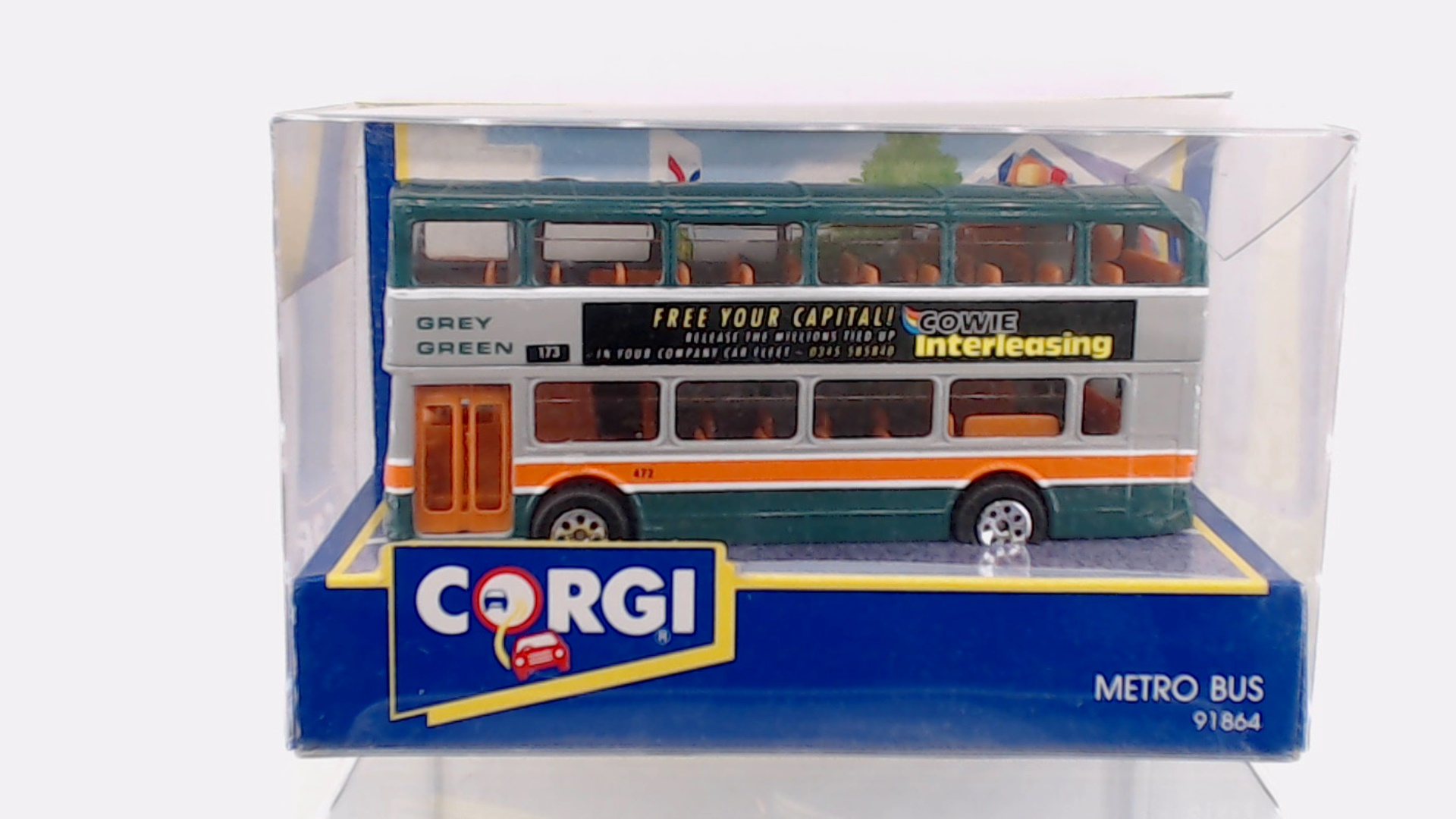 "Daron 11/"" City Bus MTA M4 CrossTown New York City metro 1:43 scale model A14"