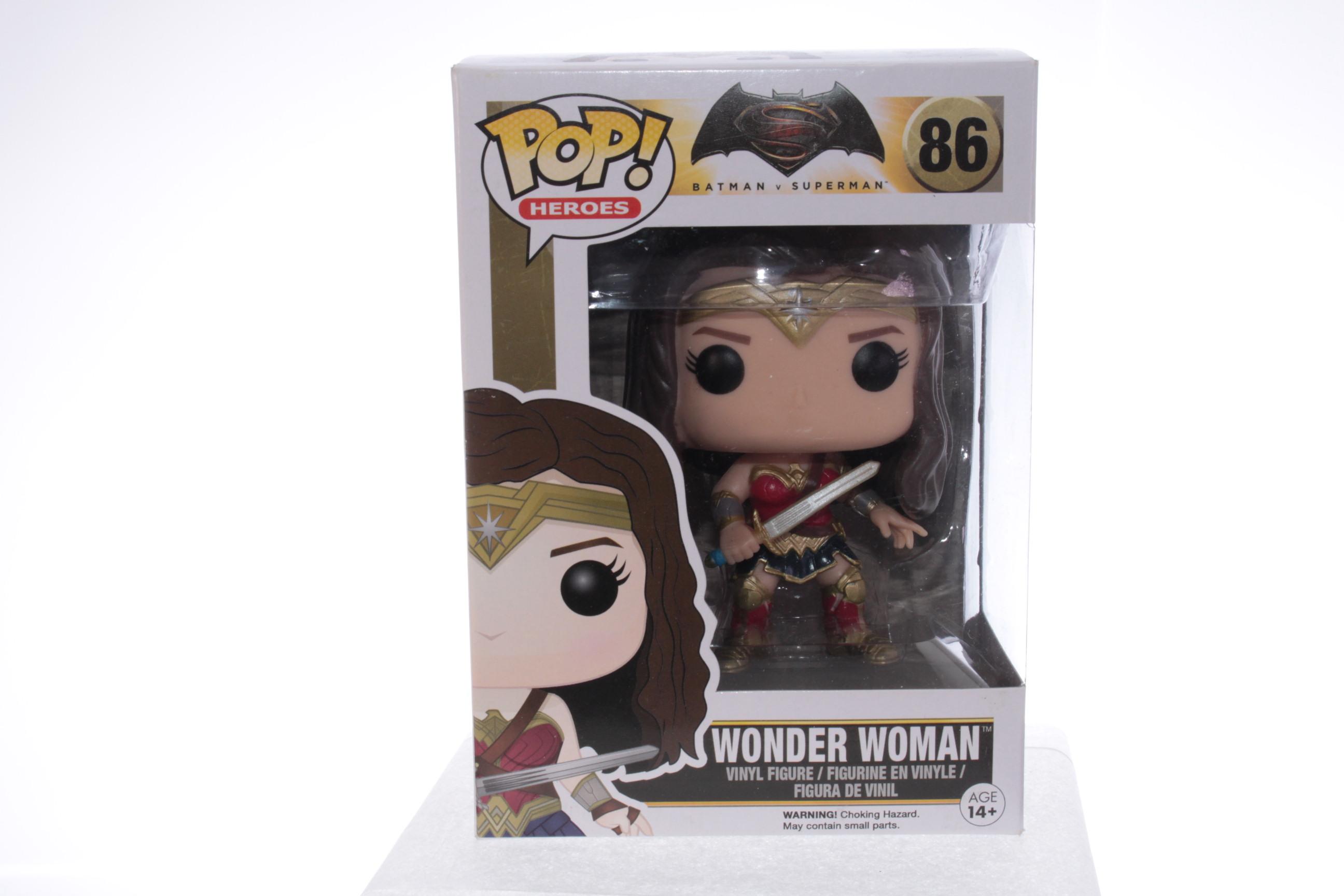 Wonder Woman Funko POP Sepia Tone Black and White Batman Vs Superman 86