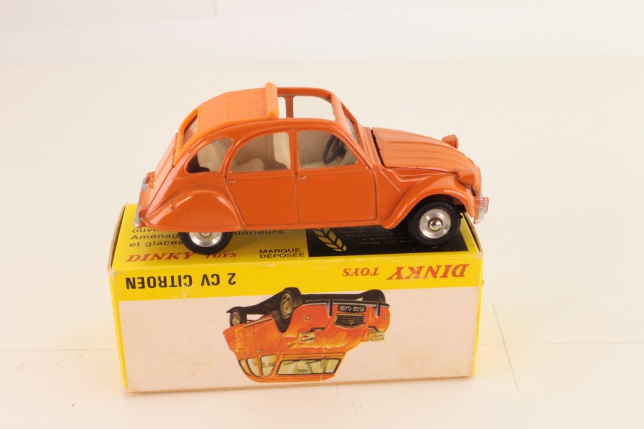 Dinky #500 - Citroen 2CV Spanish issue - Orange