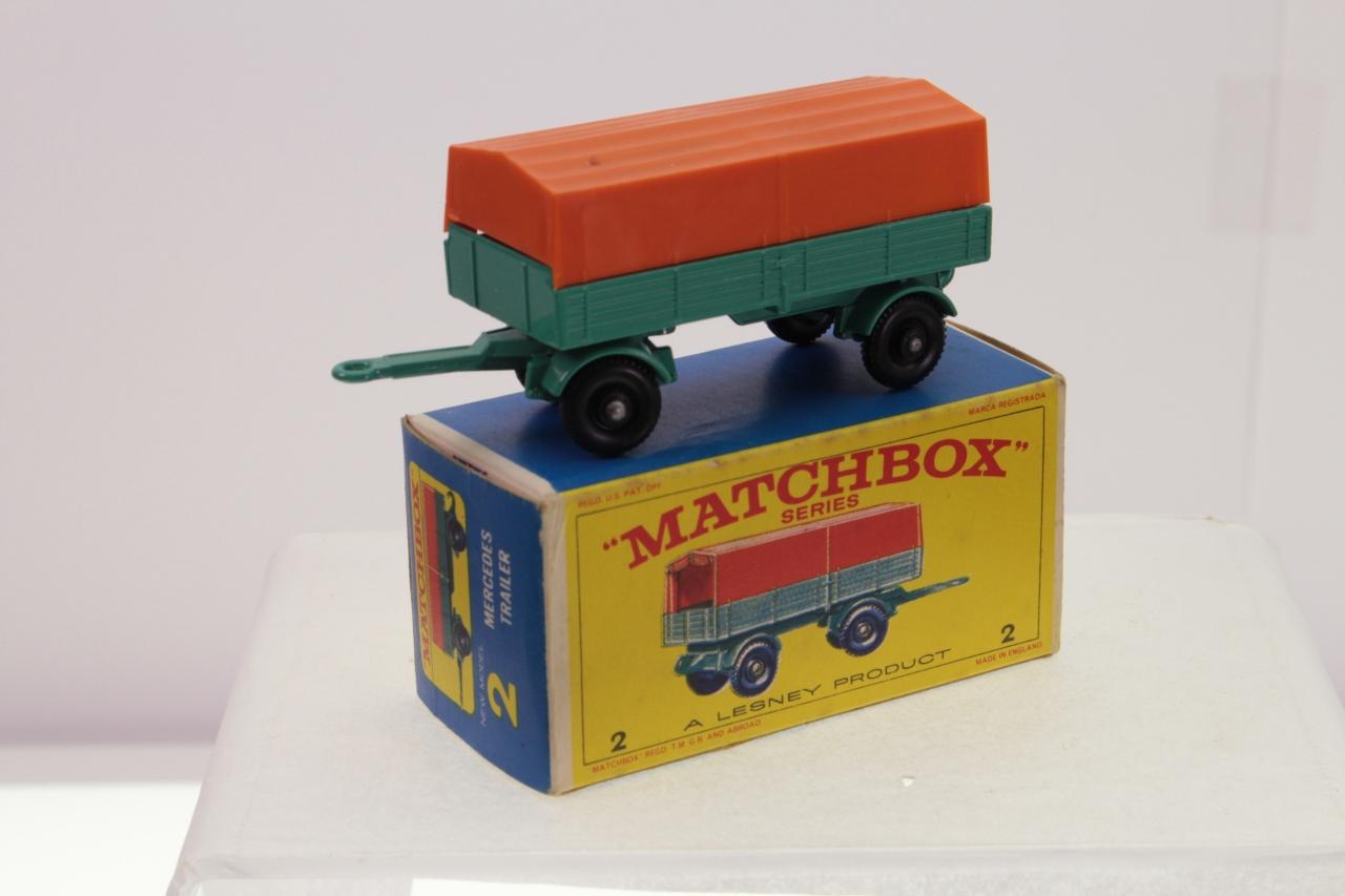 Matchbox #2d - Mercedes Trailer - Turquoise/Orange