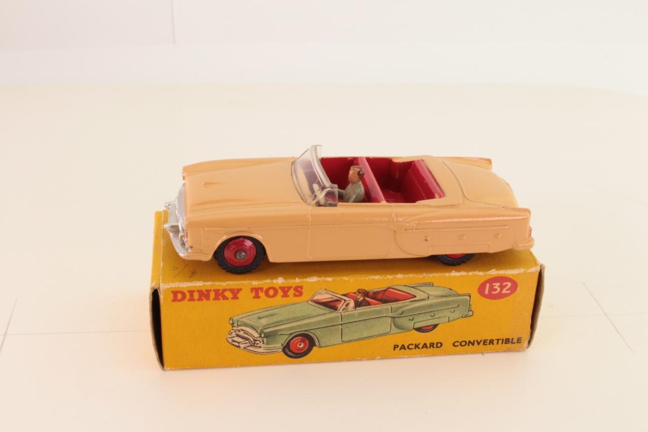 Dinky #132 - Packard Convertible - Tan