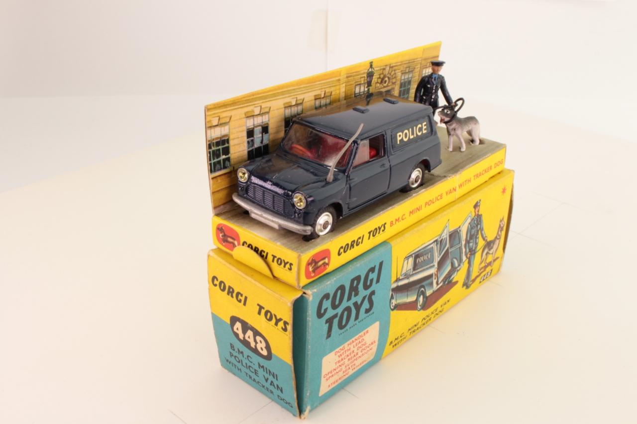Corgi #448 - Police Mini Van - Blue
