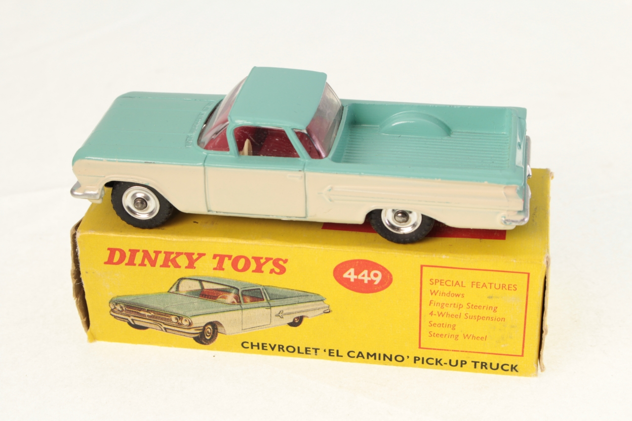 Dinky #449 - Chevrolet El Camino - Turquoise/White (Red Interior)
