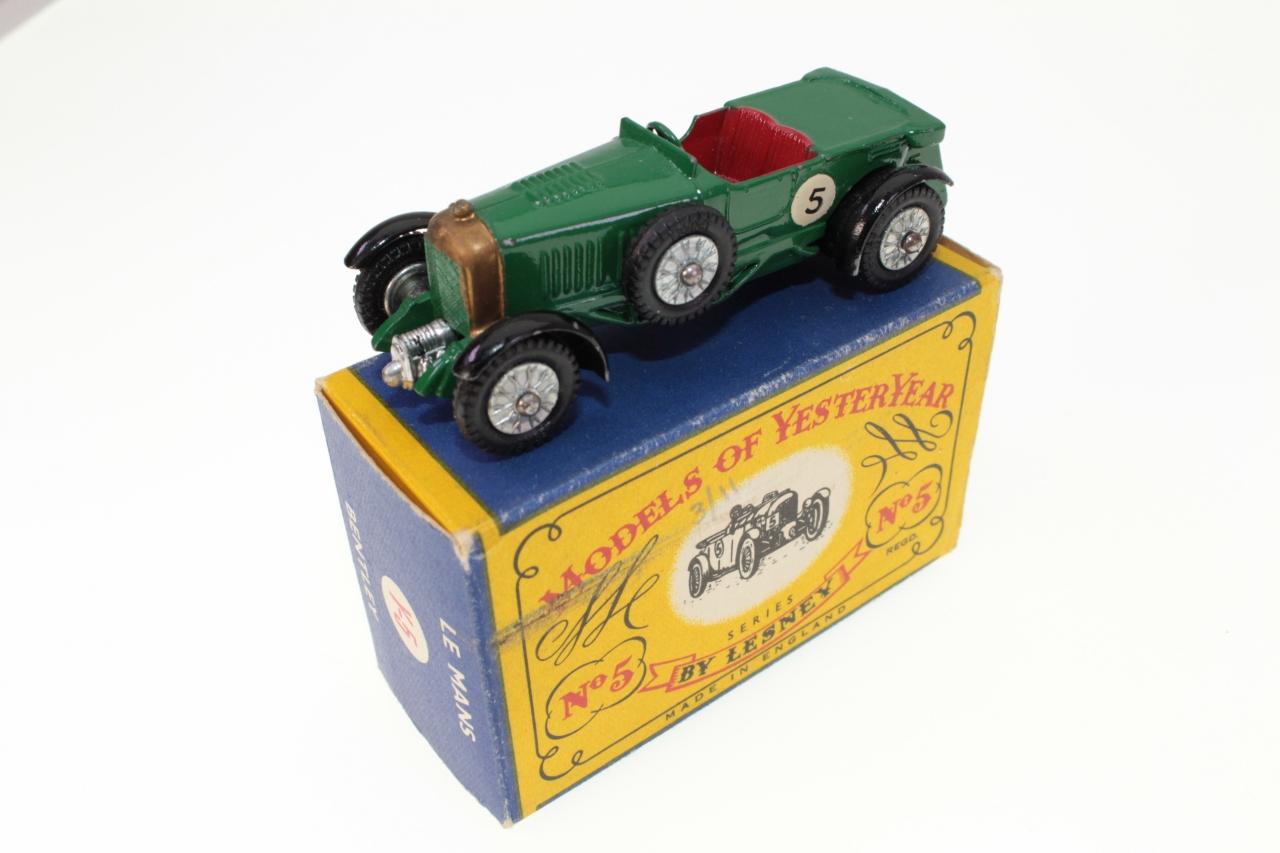matchbox yesteryear y5 1929 le mans bentley green buy it now toymart store. Black Bedroom Furniture Sets. Home Design Ideas