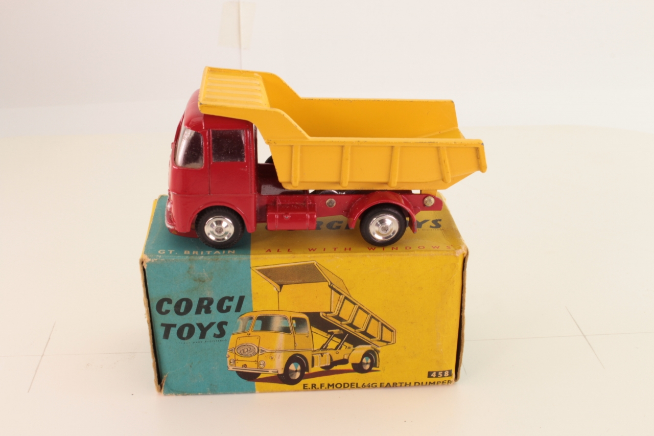 Corgi #458 - ERF Dumper - Red/Yellow