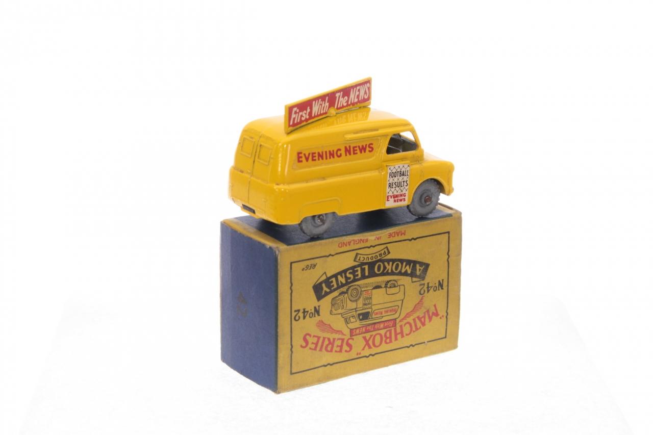 Matchbox #42a - Evening News Van - Yellow (MW)