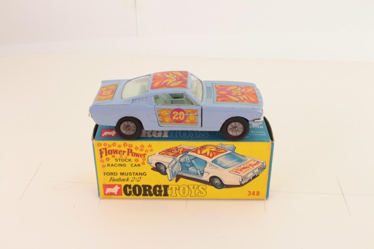 Corgi #348 - Pop Art Mustang - Blue