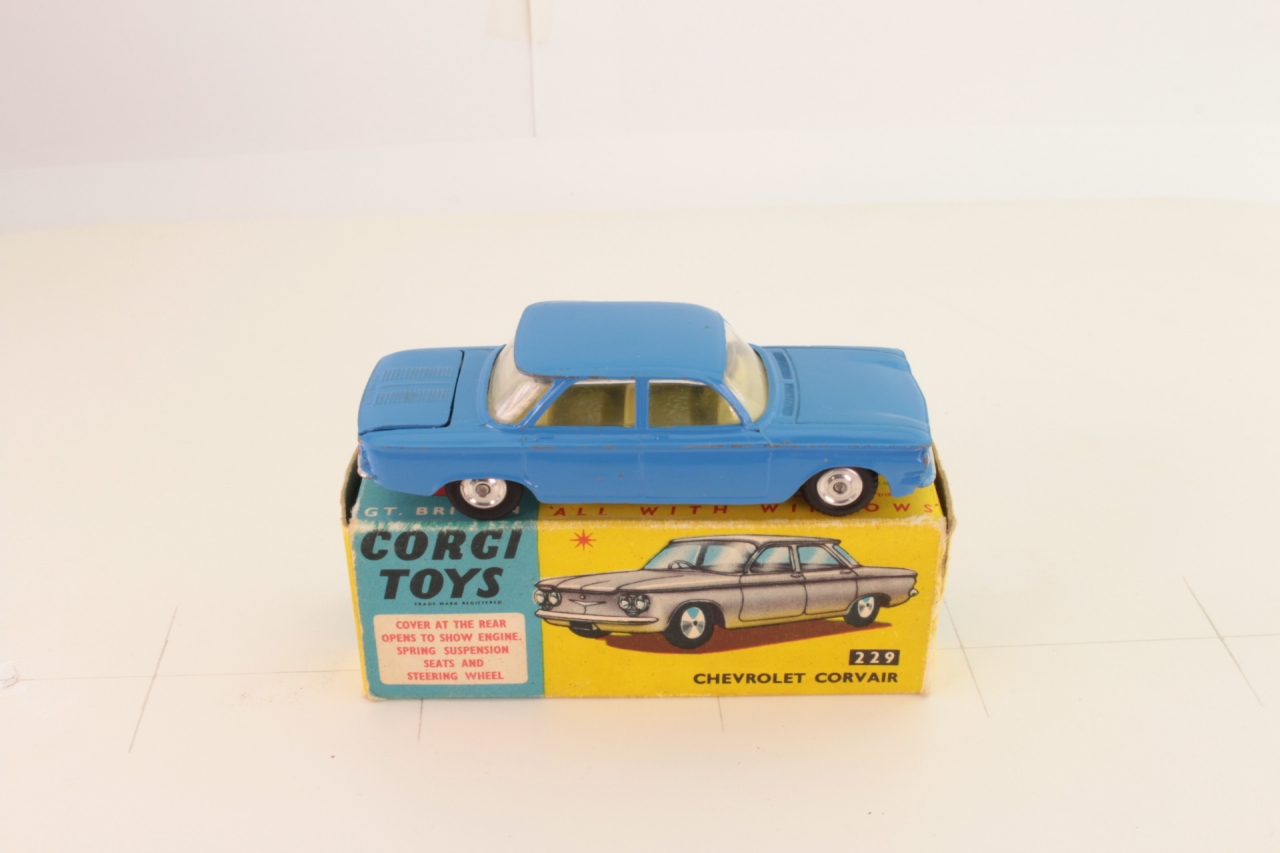 Corgi #229 - Chevrolet Corvair - Mid Blue