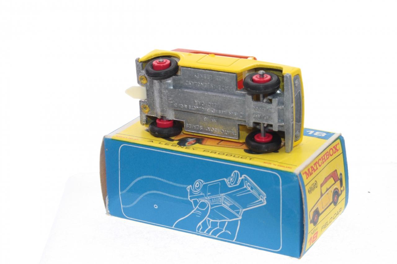 Matchbox #18e - Field Car - Yellow (red wheels)