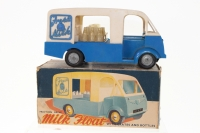 Mettoy #872 - Friction Drive Milk Float - Blue/White